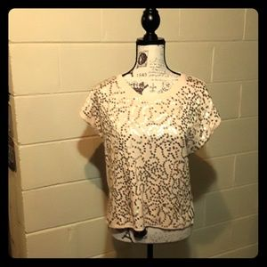 Ya Los Angeles ivory sequence top